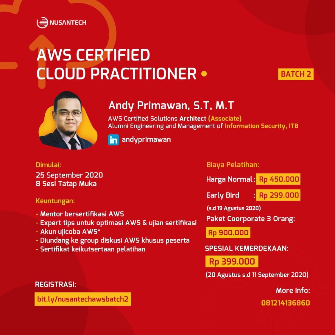Pelatihan Persiapan AWS Certified Cloud Practitioner - Batch 2